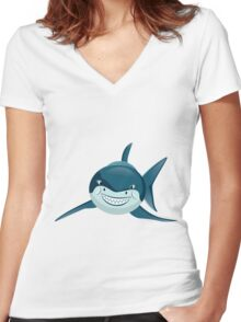 GreatBigSmile 2 Women's Fitted V-Neck T-Shirt