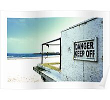 Danger- keep off by Tim Constable Poster