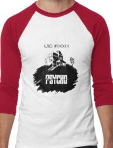 Alfred Hitchcock's Psycho by Burro! Men's Baseball ¾ T-Shirt