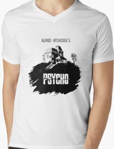 Alfred Hitchcock's Psycho by Burro! Mens V-Neck T-Shirt