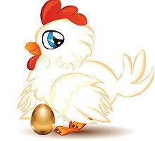 Hen with Golden Egg by AnnArtshock