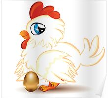 Hen with Golden Egg Poster