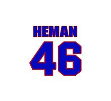 National baseball player Russ Heman jersey 46 Photographic Print