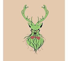 Deer hipster in glasses Photographic Print