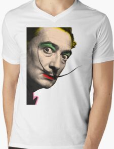 Salvador Dali Mens V-Neck T-Shirt
