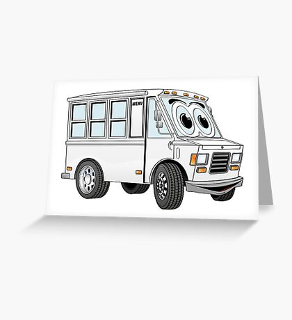White Food Truck Greeting Card