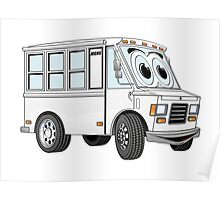 White Food Truck Poster