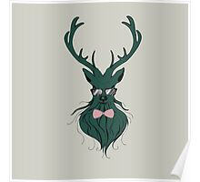 Deer hipster in glasses 3 Poster