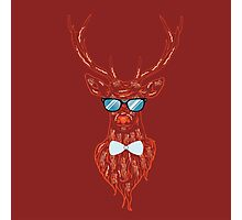 Deer hipster in glasses 4 Photographic Print