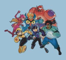 Big Hero 6 Team - Marvel by marcoluigi92