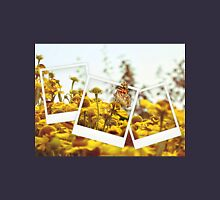 Retro photo collage of yellow flowers and butterfly Unisex T-Shirt