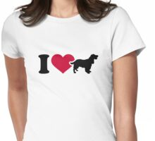 I love Cocker Spaniel Womens Fitted T-Shirt