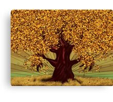 Abstract digital illustration of autumn fantasy tree 2 Canvas Print