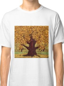 Abstract digital illustration of autumn fantasy tree 2 Classic T-Shirt