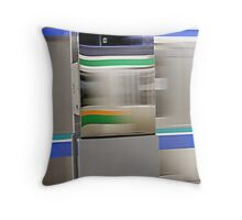 Trains Passing Throw Pillow