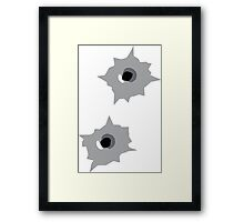 Bullet Hole Framed Print