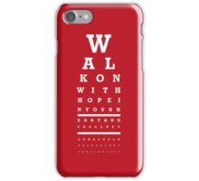Eye Chart - Liverpool FC - You'll Never Walk Alone iPhone Case/Skin