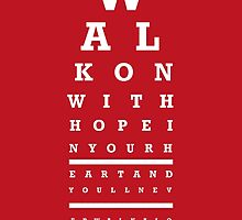 Eye Chart - Liverpool FC - You'll Never Walk Alone by twelfthman