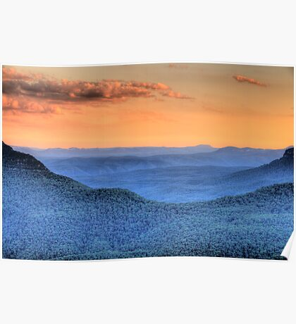 Blue Mountains Fantasy - Blue Mountains HDR Series Poster
