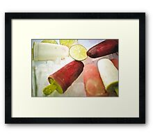 Tropical Icy Pops Framed Print