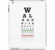 Eye Chart - Liverpool FC - You'll Never Walk Alone iPad Case/Skin