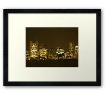 Boston Lights Framed Print