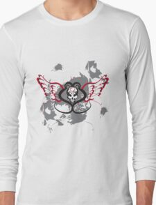 Winged Heart Skull Long Sleeve T-Shirt
