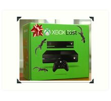 X Box Lost Art Print