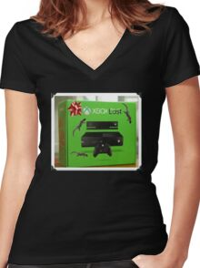 X Box Lost Women's Fitted V-Neck T-Shirt