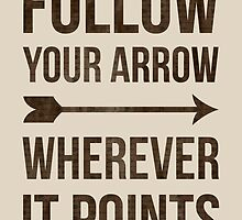 Follow your arrow wherever it points by ScienceFaithRB