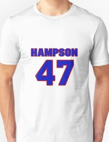 National baseball player Justin Hampson jersey 47 T-Shirt