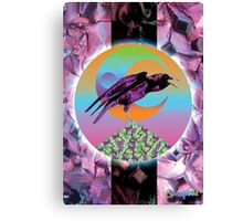 Crystal Crow Canvas Print