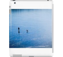 Man, dog, frozen lake iPad Case/Skin