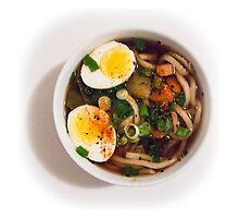 Udon Noodle Soup Bowl by Nicole Petegorsky
