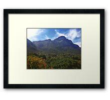 Mountains at Kirstenbosch Gardens Framed Print