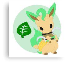 Warrior Pokemon: Shiny Leafeon Canvas Print