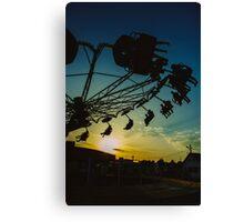 Amusement park sunset Canvas Print