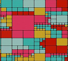 Colorful squares abstract design by lalylaura