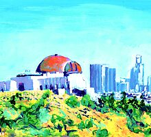 View of  Los Angeles California from Griffith Park by RDRiccoboni