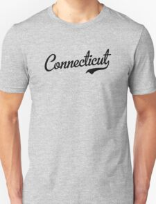 Connecticut Script Black T-Shirt