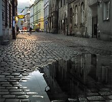 Cracow - Jozefa Street, Kazimierz by M G  Pettett