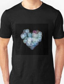 Valentines Abstract heart shaped lights  Unisex T-Shirt