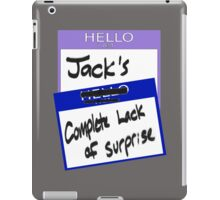 "Fight Club: ""I AM JACK'S COMPLETE LACK OF SURPRISE"" iPad Case/Skin"