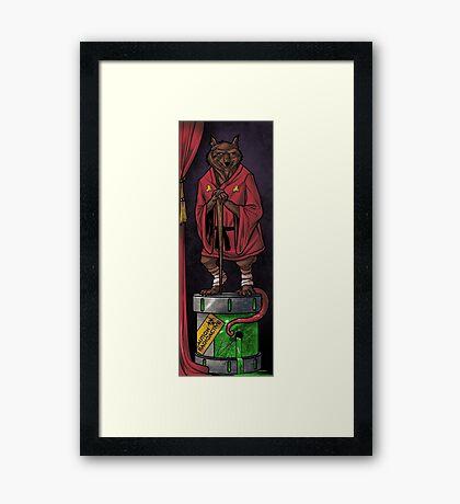 The Haunted Sewer: Mutagen Keg Framed Print