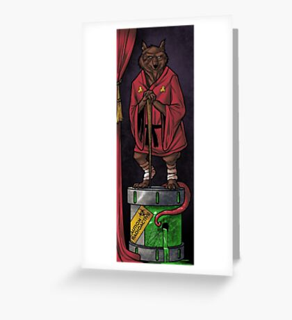 The Haunted Sewer: Mutagen Keg Greeting Card