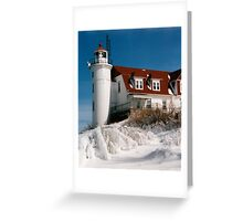 150 Years of Service - Point Betsie Lighthouse Greeting Card