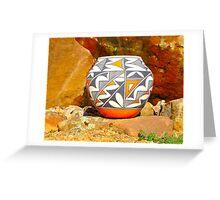 Acoma Pottery001 Greeting Card