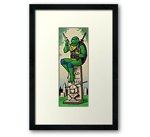 The Haunted Sewer: Here Lies Shred Framed Print