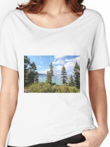 Mount Tallac trailhead overlooking lake Tahoe, California, USA Women's Relaxed Fit T-Shirt