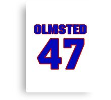 National baseball player Al Olmsted jersey 47 Canvas Print